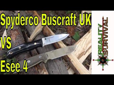 Spyderco Bushcraft UK vs Esee 4 Survival Knives