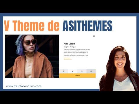 ▶ Configurar V THEME de ASITHEMES | Theme para PORTFOLIO, BLOG