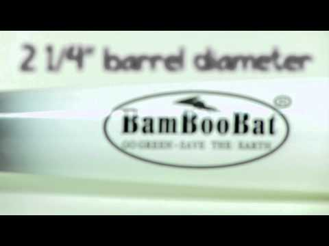 BamBooBat Bamboo Wood Bat: HBBWY Black/White Youth