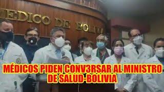 LUIS LARREA PRESIDENTE DEL COLEGIO MÉDICO DE LA PAZ PIDE CONV3RSAR CON EL MINISTRO DE SALUD..