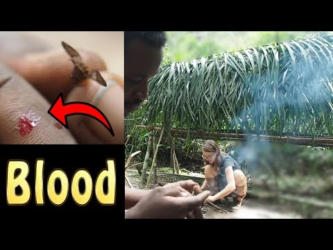 Building A Primitive Shelter In The African Jungle (Part 2)
