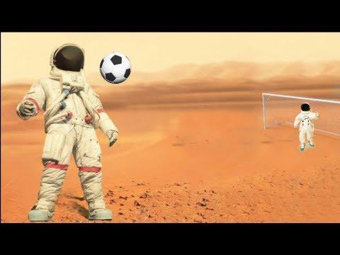 ¿Podrías jugar fútbol en Marte?