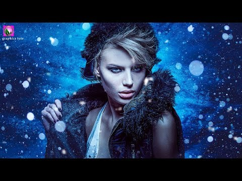 Winter Portrait With Snow Effect In Photoshop -  Photo Effect Tutorial - Photoshop CC