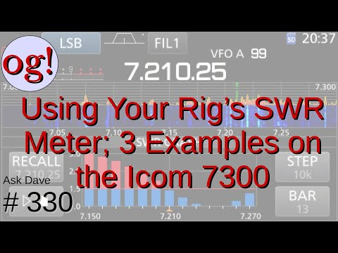 Using Your Rig's Built-In SWR Meter: 3 Examples with the Icom 7300 (#330)
