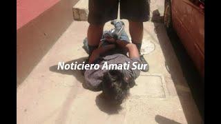 Hombre fue retenido y vapuleado en Amatitlán