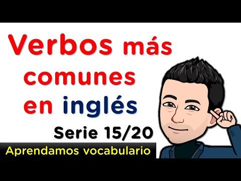 Aprendamos fácilmente verbos en Inglés con pronunciación - Serie 15 de 20