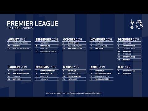 Key Fixtures in 2018/19