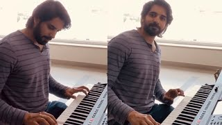 Akkineni Sushanth Playing Music From His Next Film - Telugu Film News | Latest Tollywood News | TFPC - TFPC