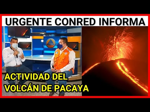 Urgente Guatemala, CONRED informa sobre la actividad del #VolcánDePacaya 10/05/2021