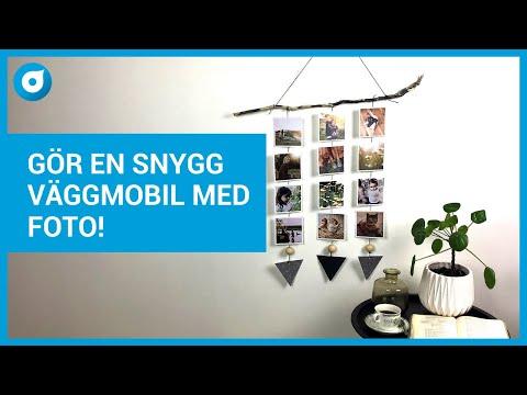 Så gör du en snygg  Väggmobil med foto - Smartphoto Pysselminuten