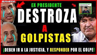 ¡EVO HUN-D3 A LOS GOLPIS-TAS! DEBEN IR A LA JUSTI-CI4. LLAMA-RA A LOS COSTITUYENTES DE BOLIVIA