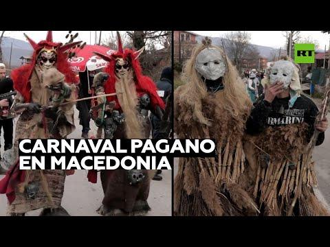 Celebran un carnaval pagano pese a las restricciones en Macedonia