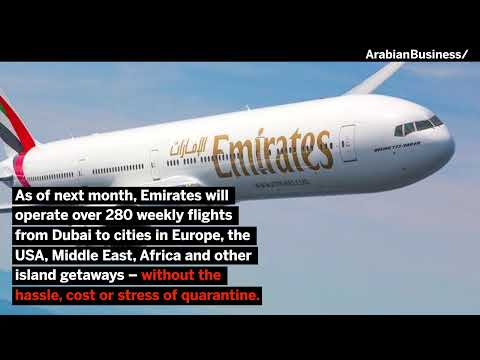 Dubai-based Emirates operating to over 30 cities in 19 countries across its network.