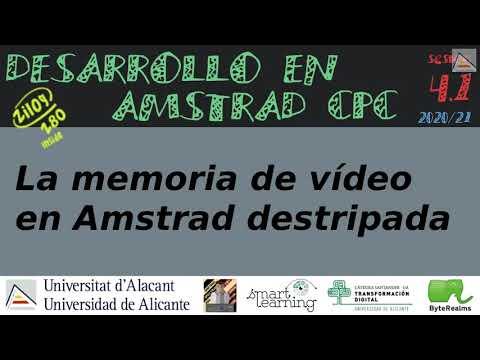 La memoria de vídeo en Amstrad, destipada [ #ASM #Z80 ]