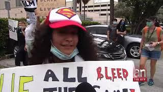 Por cuarto día consecutivo cientos de personas salen a protestar a las calles del Downtown de Miami