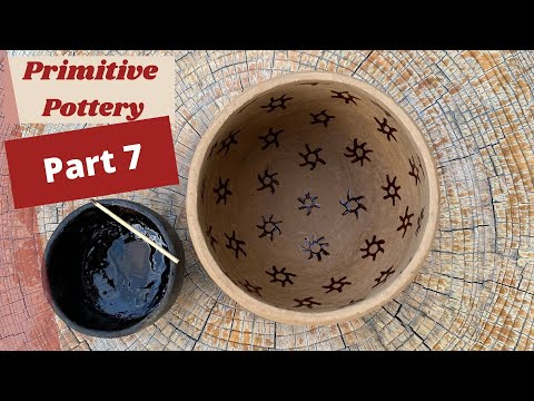 How to Make Primitive Pottery. Firing Our Pottery! (Part 7 of 8)