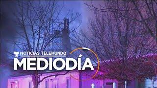 Suspenden servicios de una línea de metro tras enorme incendio en NJ   Noticias Telemundo