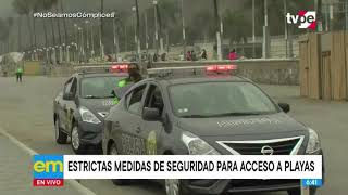Ministro César Gentille aclaró que están prohibidas las reuniones sociales en las Playas