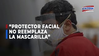 "Alexandro Saco, vocero del Minsa: ""Protector facial no reemplaza a la mascarilla"""