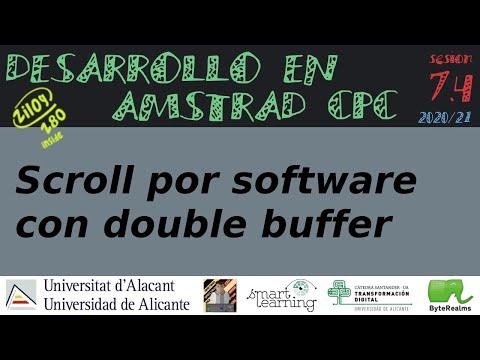 Scroll por software con double buffer en CPCtelera 1.5 [ #Z80 #ASM ]