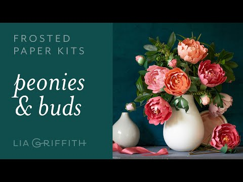 Frosted Paper Peony Flower Kit: How to Make a Gorgeous Peony Flower with Paper