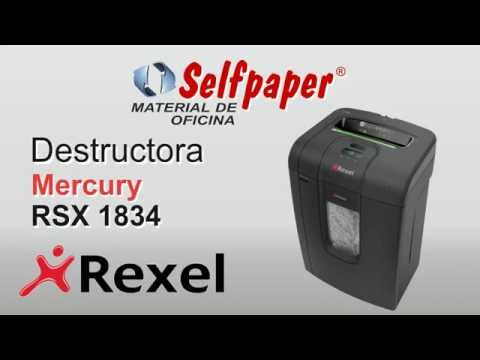 Destructora Rexel RSX 1834 antiatasco video HD