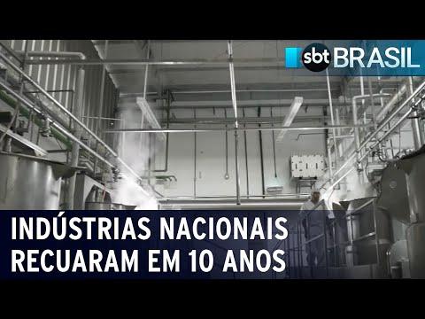 IBGE mostra recuo da indústria nacional na década passada   SBT Brasil (21/07/21)