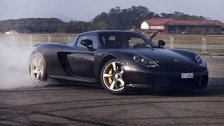 Doing Donuts In A Porsche Carrera GT: Former Rally Driver Makes It Look So Easy!!