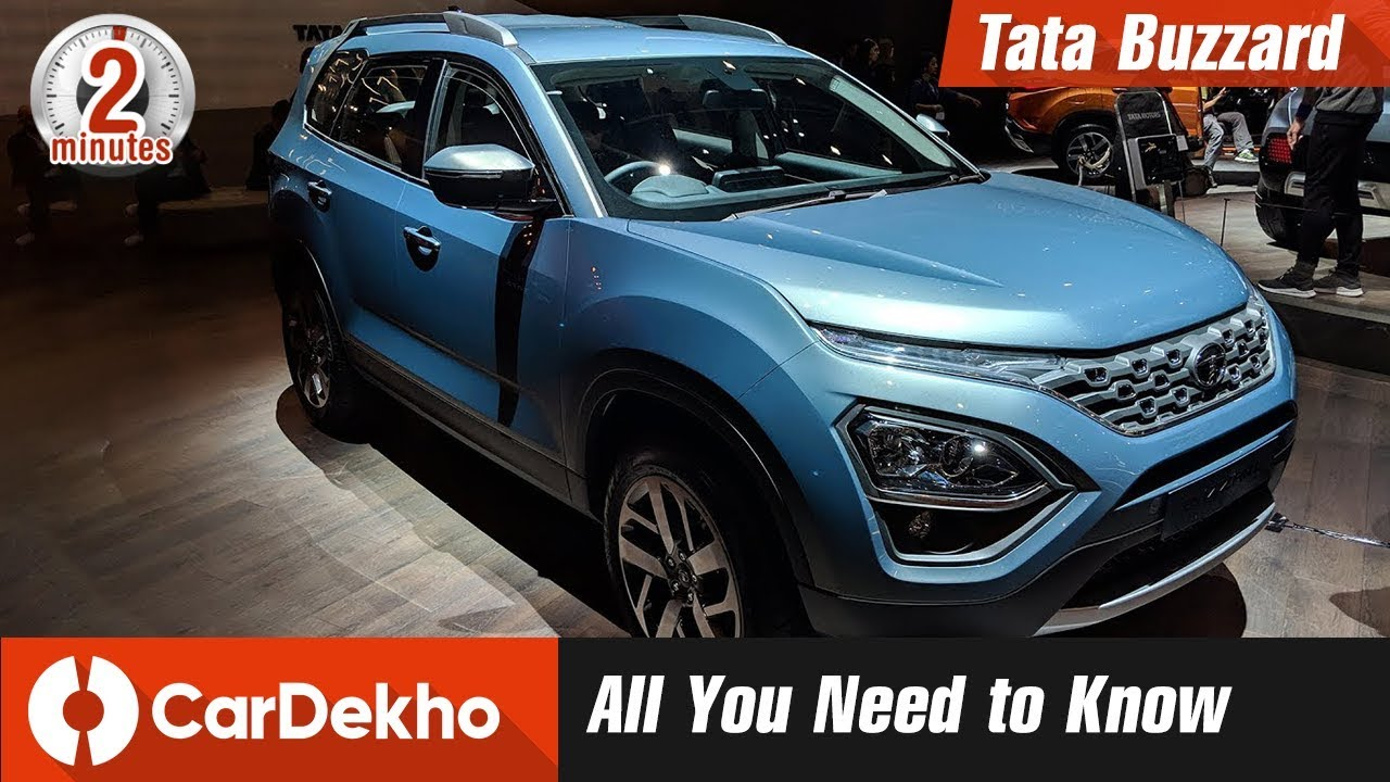 Tata Buzzard - Harrier 7-Seater | Expected Price, Looks, Features & Specs | #In2mins | CarDekho.com