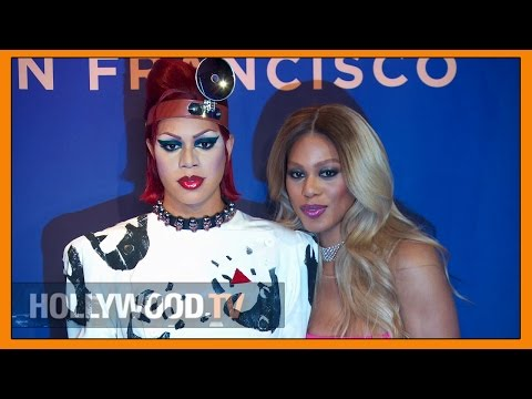 Laverne Cox shows off wax figure - Hollywood TV