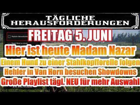 Freitag 5. Juni. Täglichen Herausforderung Dailys Nazar Red Dead Redemption 2 Online