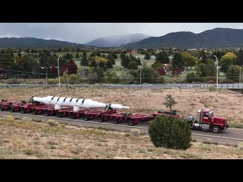 LANL transports giant rotor through Santa Fe