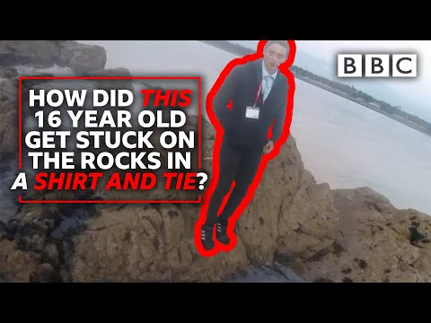Teenager Found on Rocks in a Suit and Tie | Saving Lives at Sea – BBC