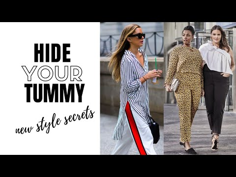 Video: How To Hide Your Tummy - 18 Tips You Didn't Know