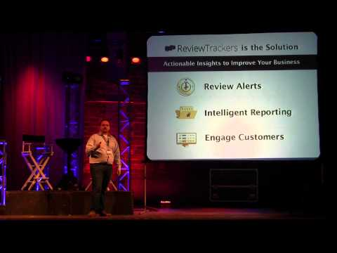 Chris Campbell presenting Review Trackers