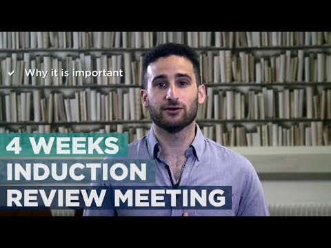 4 weeks induction review meeting | Brunel University London