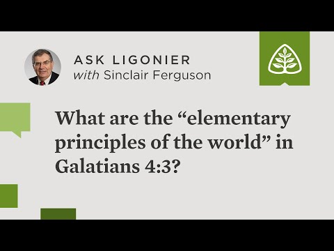 """What are the """"elementary principles of the world"""" in Galatians 4:3?"""