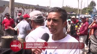 Camiones y volquetas vuelven a las calles, después de cinco días de paro en Bogotá