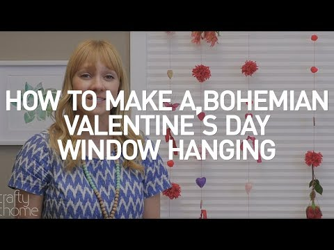 Bohemian Valentine's Day Window Hanging