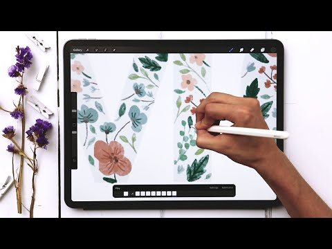 Mother's Day Watercolor Floral Animation in Procreate