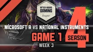 AHGL SEASON 4 WEEK 3 - MICROSOFT A VS. NATIONAL INSTRUMENTS - P1