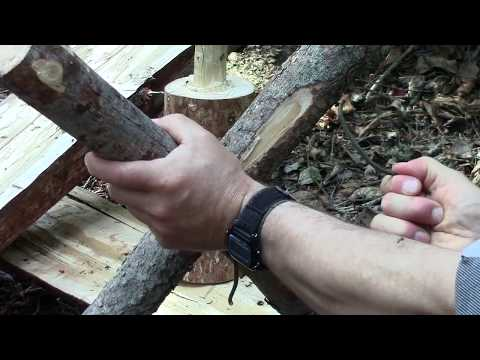 Bushcraft A Useful Split Log Camp Table