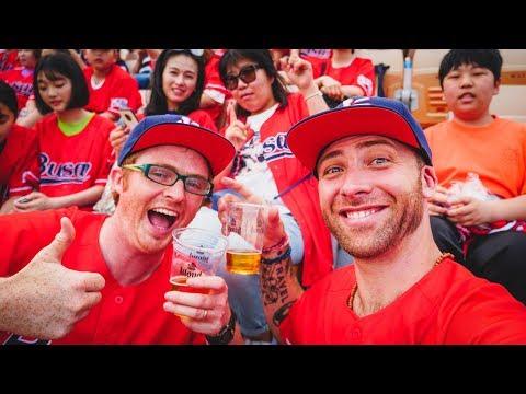 Amazing KOREAN BASEBALL GAME in Busan, Korea! Go Lotte Giants!