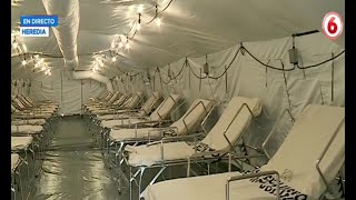 Hospital móvil en Heredia entra en funcionamiento