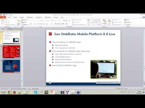 Mobile development made unique | WebRatio Webinar