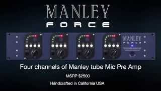 Manley FORCE Four Channel Vacuum Tube Microphone Preamplifier