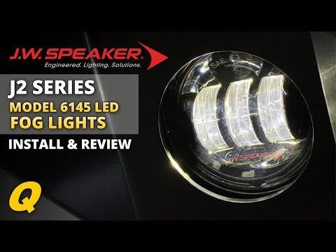 JW Speaker 6145 J2 LED Fog Lights Review & Install for 2007-2018 Jeep Wrangler JK