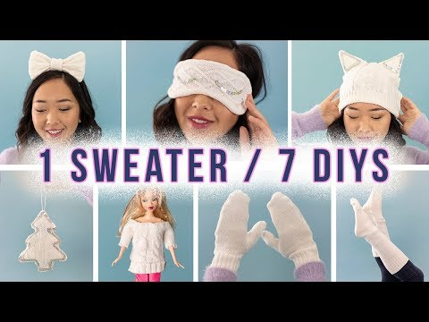 7 DIY's from 1 Sweater | ZERO WASTE!