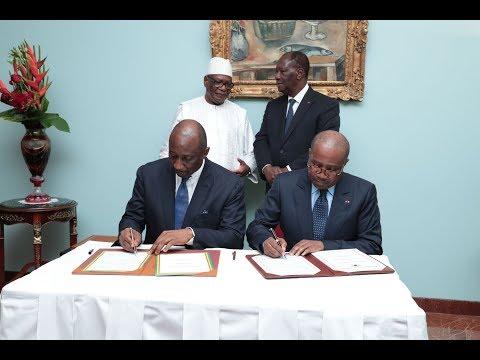 Signature d'accords entre la Côte d'Ivoire et le Mali, ce jeudi 10 mai 2018