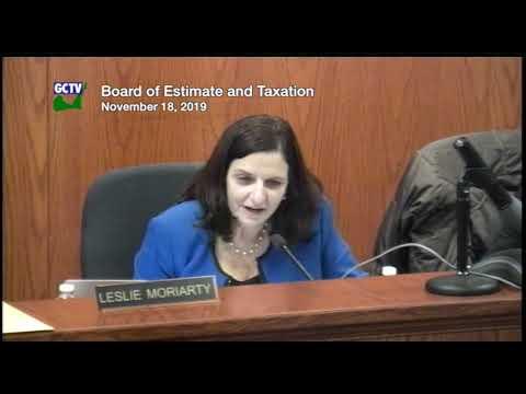Board of Estimate & Taxation, November 18, 2019